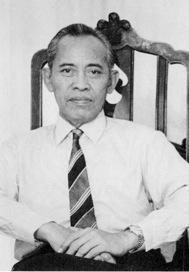 Subud cult founder Muhammad Subuh Sumohadiwidjojo of Indonesia.