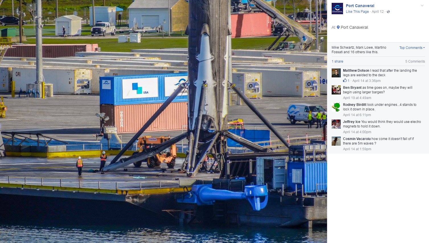 Port Canaveral Facebook GT USA SpaceX Falcon 9 1400