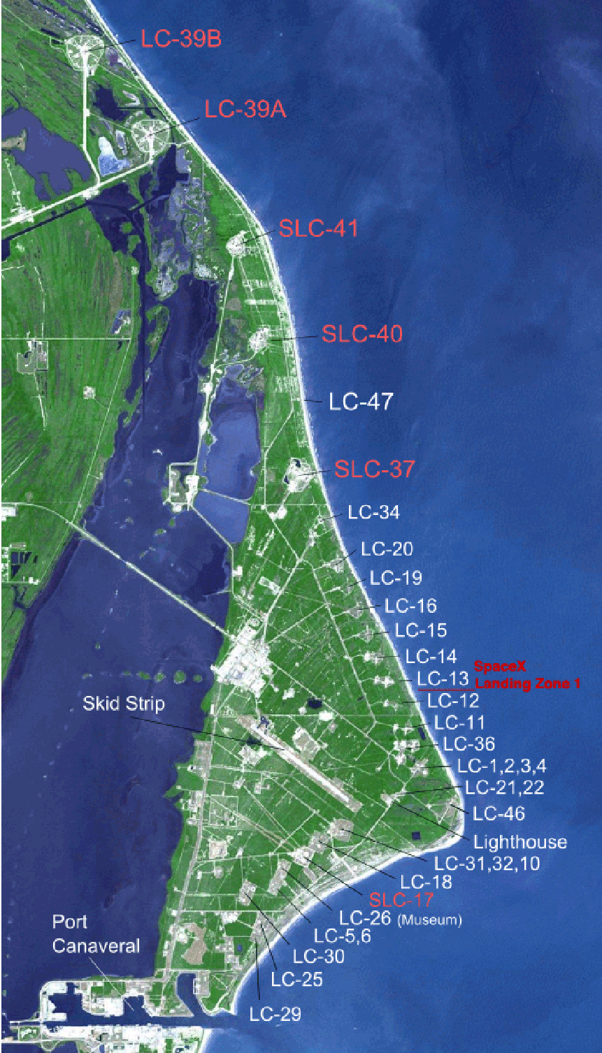 Cape Canaveral Air Force Station Launch Complexes